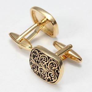 Men-Gold-Black-Square-Cufflinks-2